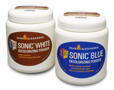 Sonic White and Sonic Blue Decolorizing Powders
